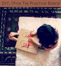 DIY! Make a Shoe Tie Practice Board