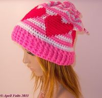 "Free pattern for April Draven's ""Valentine Convertible Hat""!"