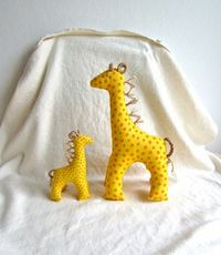 Organic Cotton Giraffe with baby