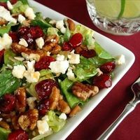 Cranberry Pecan Salad with Feta Cheese