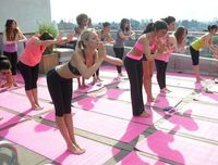 Yoga with Victoria's Secret Angels and SHAPE!