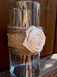 Shabby Chic Glass Candle Holder