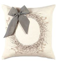 Eastern Accents Wintry Wreath 22x22 pillow