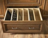 pull-out drawer for baking sheets