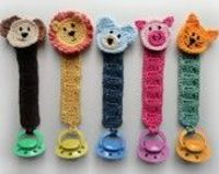 Pacifier Holder with Animals - PDF Crochet Pattern