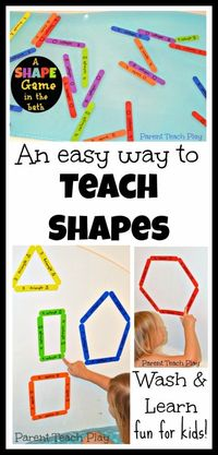 An Easy Way to Teach Shapes