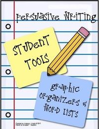 Freebie: Persuasive Letter Writing (Organizers & Word Lists)