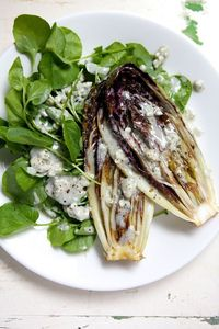 Grilled Treviso with Blue Cheese
