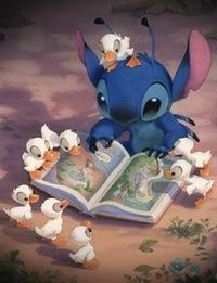 stitch with his ducklings :)