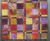 Batik Lap Quilt Sugarplum Handmade Ready to Ship