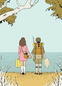 Adrian Tomine's Illustration Of 'Moonrise Kingdom' For The New Yorker