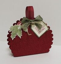 Stampin' Up! Treat Holder Lorrie Heiling Christmas Scallop Circle