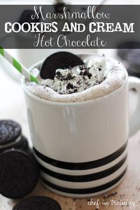 Marshmallow, Cookies and Cream Hot Chocolate