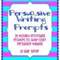 Persuasive Writing Prompts -- FREEBIE! #slms