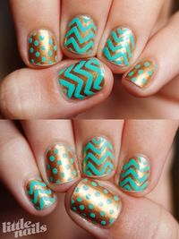 Chevron and dots.