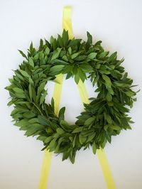 fresh wreath.