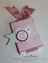 Stuck on Stampin': pull up sweethearts candy box mini tutorial