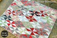 That girl... That quilt: Dizzy Diamonds {a pattern}