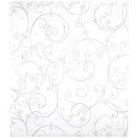 Disney Perfect Princess Scroll Wallpaper in white