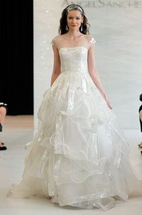 Angel Sanchez wedding dress with acetate texture, Spring 2013