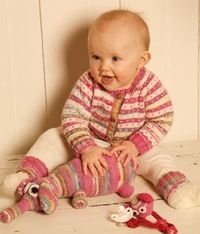 Baby sweater i striber