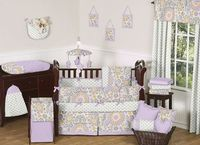 Suzani Baby Bedding - 6 pc Crib Set - Click to enlarge