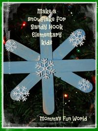 Momma's Fun World: Helping Sandy Hook with snowflake love and acts of kindness