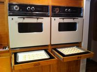 custom pull-out cooling racks from author Greg Patent's kitchen. I'll take the double ovens, too, plzkthx.