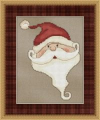 FREE! Whimsical Santa Cross Stitch pattern.