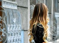 long #ombre hair