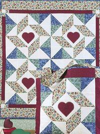 FREE Pattern~Windblown Star Tote & Wall Quilt