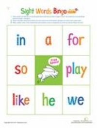 This printable bingo game helps preschoolers learn simple sight words in an approachable and fun way.