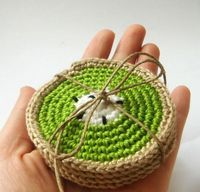 I want to crochet some fruit coasters