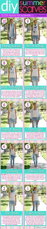 10 Ways to Wear a Summer Scarf