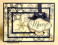 Beautiful snowflake card by Selene Kempton