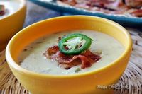 Jalapeno Popper Chicken Soup with Bacon Crisps You have to scroll down her alphabet index to J