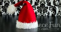 Santa hats for the whole family Free pdf pattern and video tutorial.