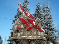 Red Roofed Condo Birdhouse....