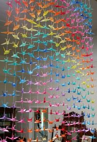 Rainbow cranes....I want to learn to make these!