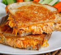Buffalo Chicken Grilled Cheese... I wish I had this right now.