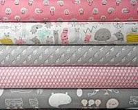 BUNDLE SALE Monsterz Organic Pink and Gray by benoitdesigns