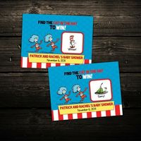 Dr Suess Scratch Off Ticket Favors - Set of 20 Tickets - Baby Shower, Birthday Favors. $12.00, via Etsy.