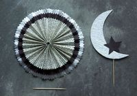 Crescent Moon Cake Topper