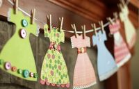DIY paper dress garland