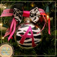 Part 1: Monogrammed Ornaments