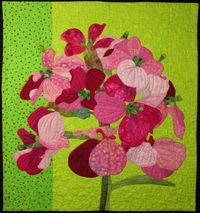 Art Quilt - Wallflower.