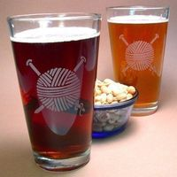 etched pint glasses, via Etsy