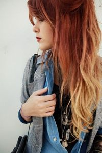 Ombre Hair Trend - Red to Blonde