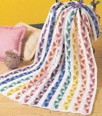 Plaited Scraps Afghan free crochet pattern