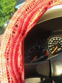 Knitted Steering Wheel Cover